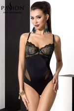 Body Floris : Un body sensuel et élégant, avec son bustier de dentelle à balconnets et ses bretelles croisées dans le dos.