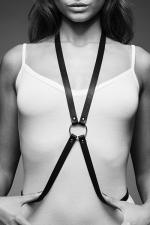 Harnais 8 noir - Maze  : Harnais d'inspiration BDSM, en forme de 8, à porter sur ou sous vos vêtements, en matière 100% Vegan.