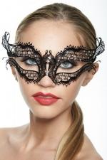 Masque vénitien Queen 2 : Masque vénitien fantaisie en métal incrusté de strass, un bijou mystérieux.
