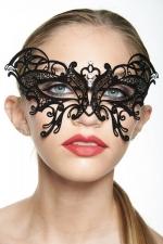 Masque vénitien Fairy 1 : Masque bijou en métal et strass qui forme un papillon magnifique sur le regard.