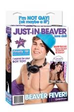 Poupée Just-In Beaver : Poupée gonflable bi-sexuelle à l'effigie de la célèbre star.